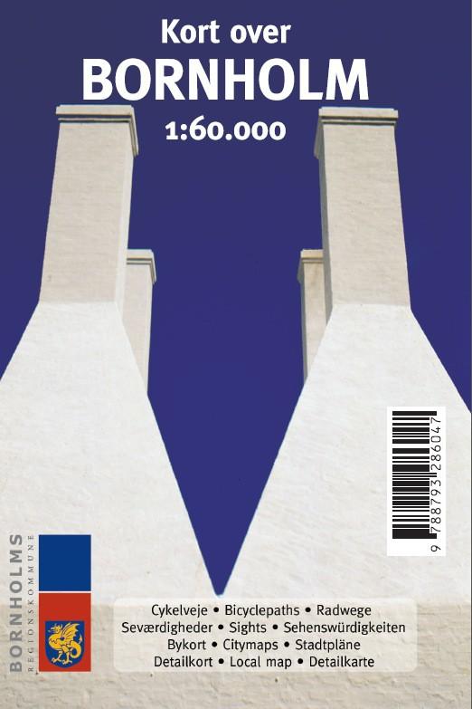 Kort Over Bornholm 1 60 000 Forlaget Brian Christensen